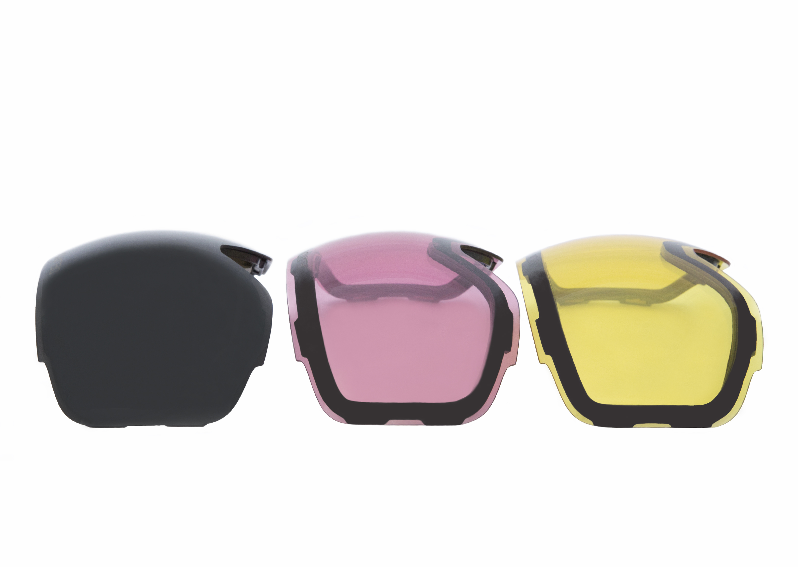 Delayon Eyewear Lens Tripple Pack STRONG Black Pink Yellow