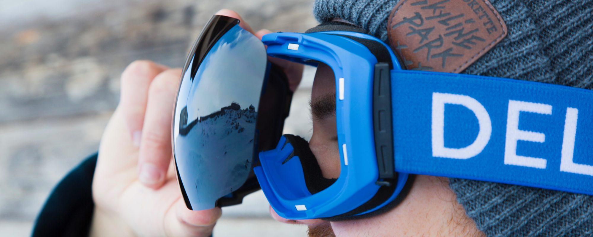 Delayon Eyewear Magnetic Quick Change Lens System Explorer Goggle