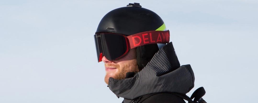 Delayon Eyewear Julian Witting Core Goggle 2in1 Bordeaux Rot Maha Lifestyle Skibrille
