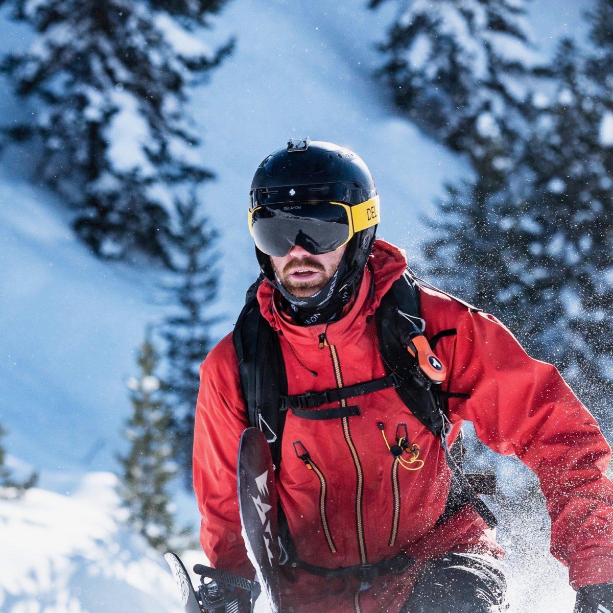 DELAYON Eyewear Explorer Goggle Hornet Yellow Nicolas Metz Chris Riefenberg 2