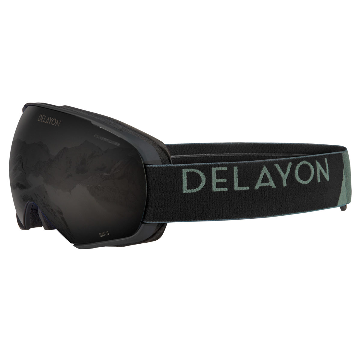 DELAYON Eyewear Puzzle Goggle Matte Black STRONG Black Front