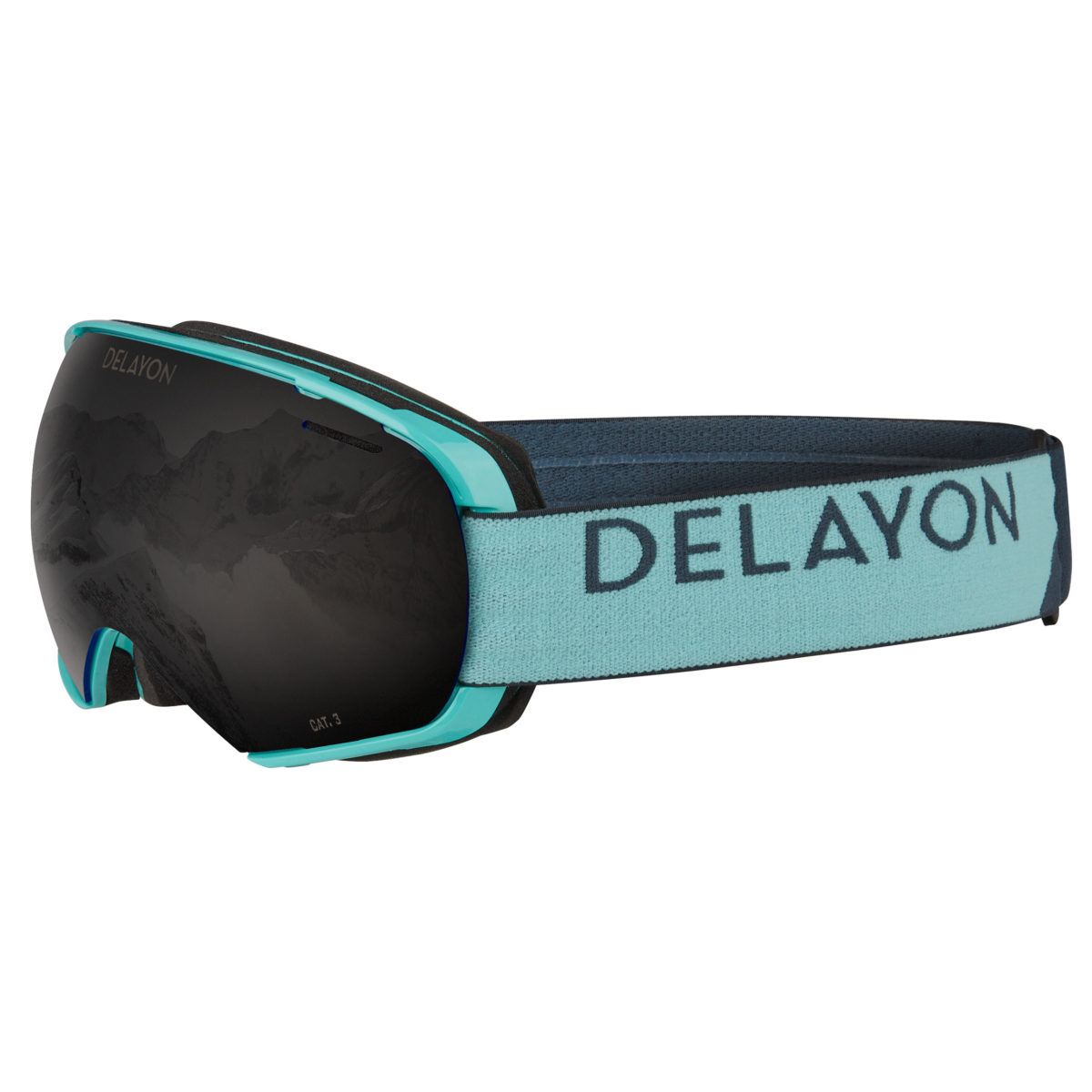 Puzzle Goggle Turquise STRONG Black