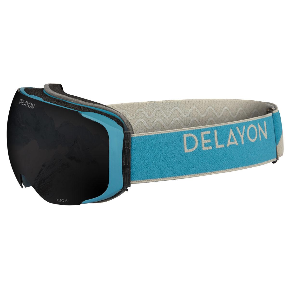 Delayon Eyewear Explorer Goggle Navy Gray STRONG Black