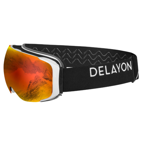 Delayon Eyewear Explorer Goggle White Black Space Fire