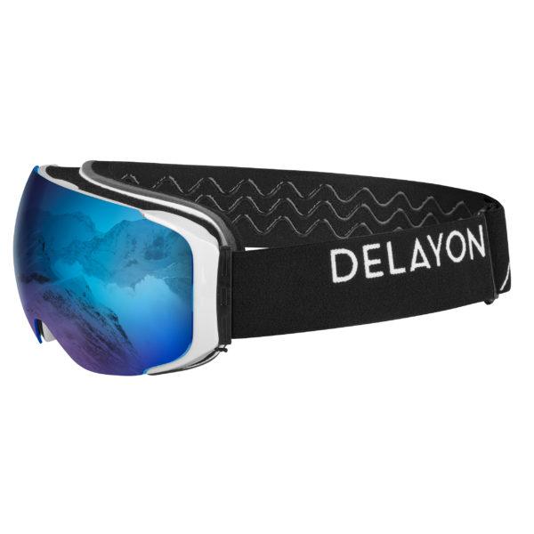 Delayon Eyewear Explorer Goggle White Black Space Blue