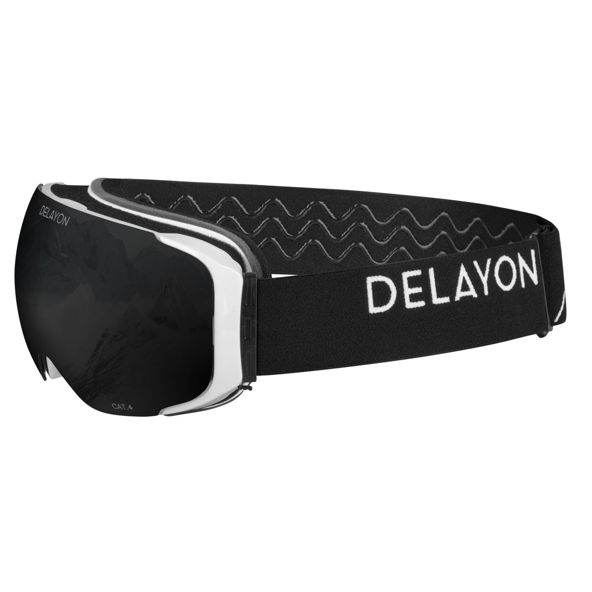 Delayon Eyewear Explorer Goggle White Black Strong Black