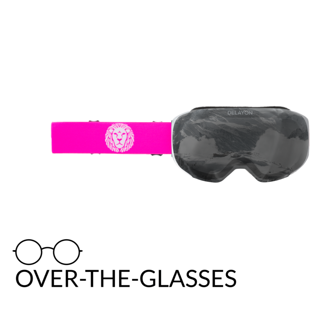 DELAYON Eyewear Explorer OTG White/Pink STRONG Black
