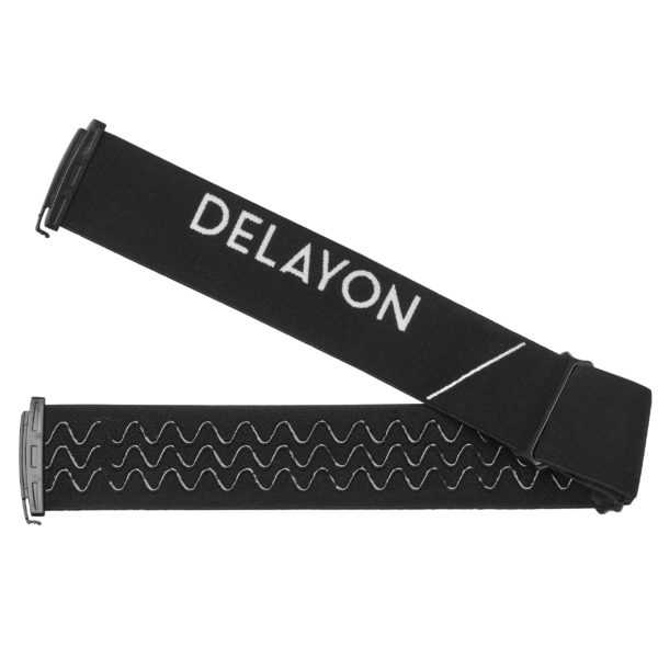 DELAYON Eyewear Explorer Goggle Strap Black