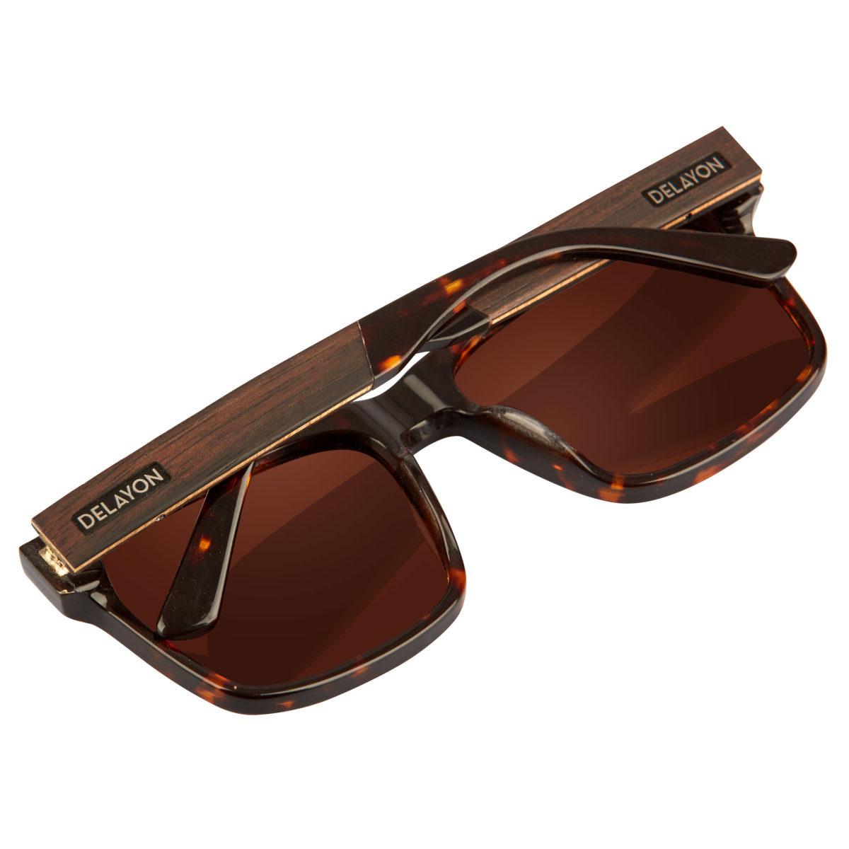 Delayon Eyewear Nomad Sonnenbrille Brown Hinges