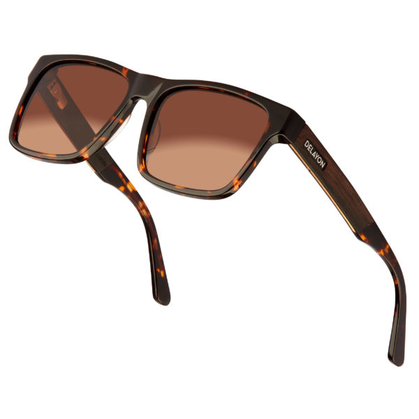 Delayon Eyewear Nomad Sonnenbrille Brown Angle