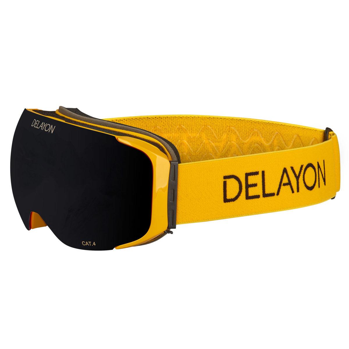 DELAYON Eyewear Explorer Goggle STRONG Black Hornet Yellow