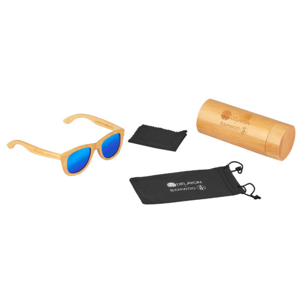DELAYOn x BAMWOO Jungle Sunglass Natural Space Blue Set