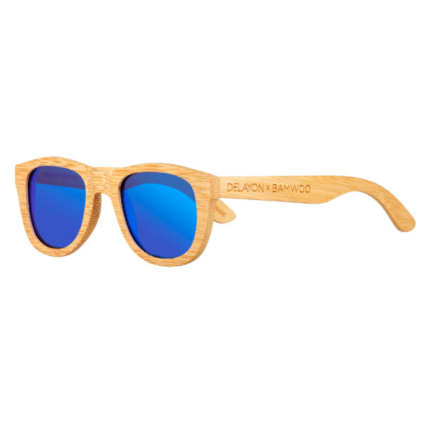 DELAYOn x BAMWOO Jungle Sunglass Natural Space Blue